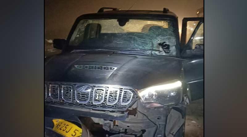 Allegations of bombing targeting BJP leader's car in Basirhat | Sangbad Pratidin
