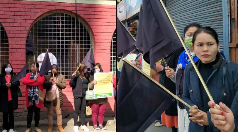 Dilip Ghosh faces protest in Darjeeling, shown black flag |SangbadPratidin