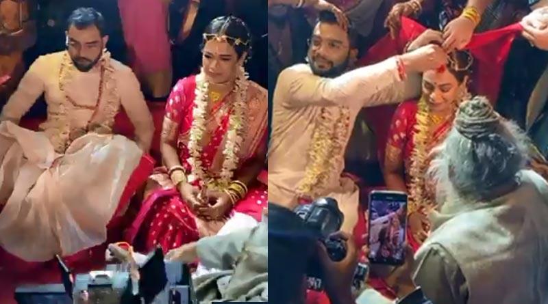 Imon Chakrabarty ties knot with Nilanjan Ghosh | Sangbad Pratidin