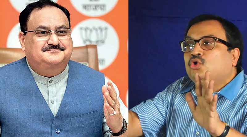 Kunal Ghosh demands JP Nadda to apology as there was no image of Chaitanydev in BJP's rath for 'Parivartan Yatra'|SangbadPratidin