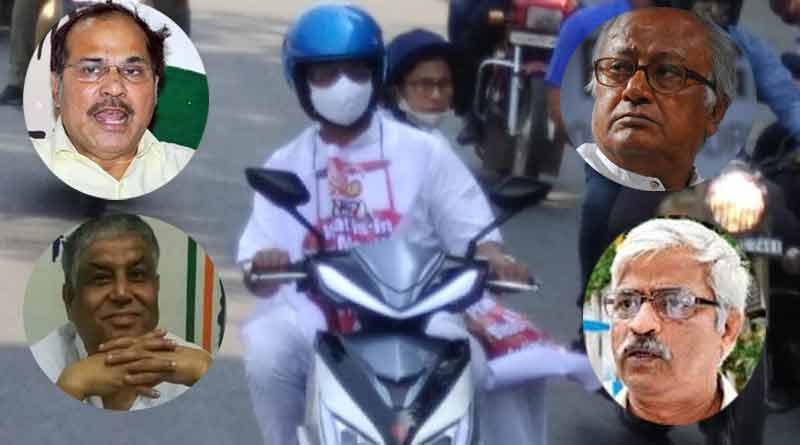 Opposition dubs Mamata Banerjee's scooter ride as political gimmick | Sangbad Pratidin