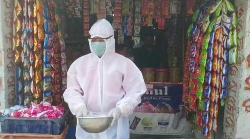 PPE-clad frontline worker seen begging in Odisha's Bhadrak, alleges govt apathy | Sangbad Pratidin