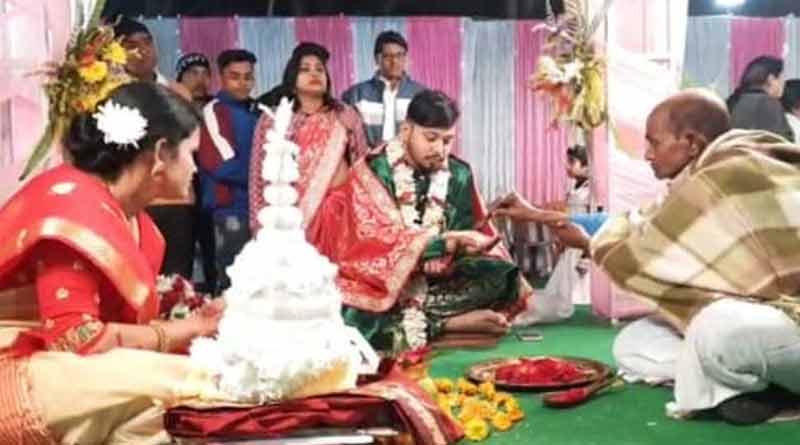 Wedding done by female priest in North bengal | Sangbad Pratidin