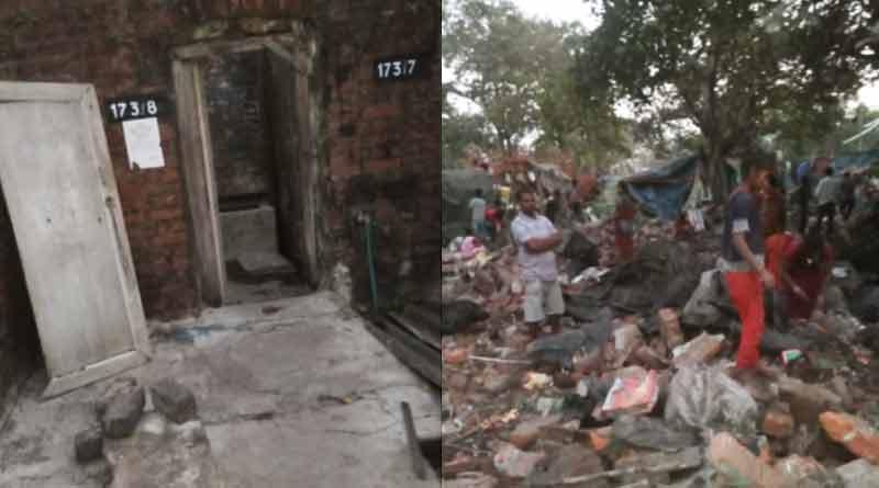 40 Houses demolished by the railways, residents homeless   Sangbad Pratidin