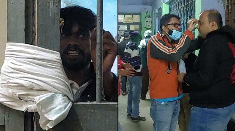 Doctor attacked by prisoner at Suri hospital, Birbhum seriously injured |SangbadPratidin