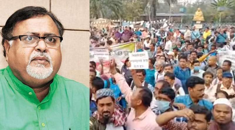 Partha Chatterjee faces agitation from taeachers association at Rani Rasmani Road |SangbadPratidin