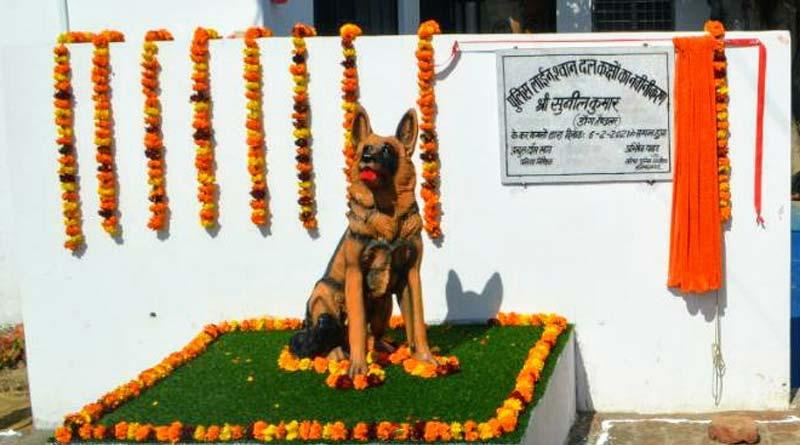 unveils statue of dog that helped solve 49 cases in Muzaffarnagar | Sangbad Pratidin