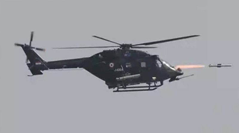 HELINA anti-tank missiles successfully launched from ALH Dhruv helicopter | Sangbad Pratidin