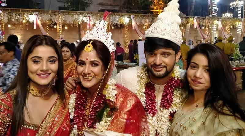 Bengali tv star Neel Bhattacharya and Trina Saha got married
