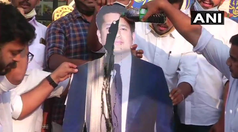 Sachin Tendulkar's poster blackened by Youth Congress workers in Kerala | Sangbad Pratidin