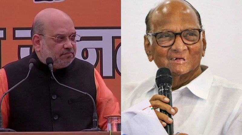 Everything can't be made public, Amit Shah on reports of his meeting with Sharad Pawar   Sangbad Pratidin