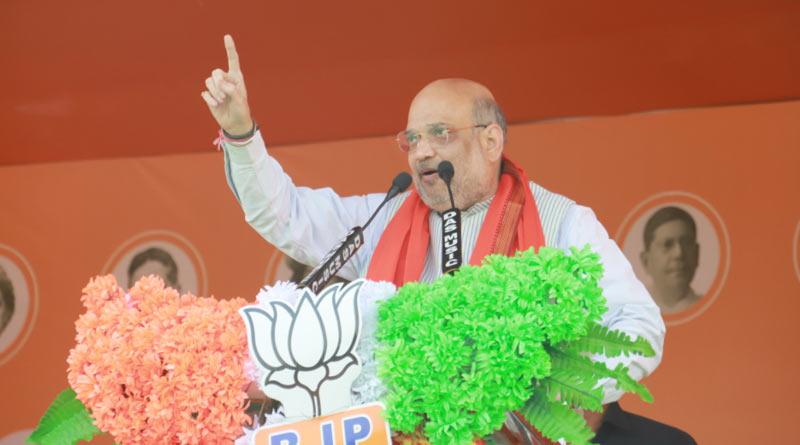 WB Assembly Election 2021: HM Amit Shah addresses public meeting at Jhargram | Sangbad Pratidin
