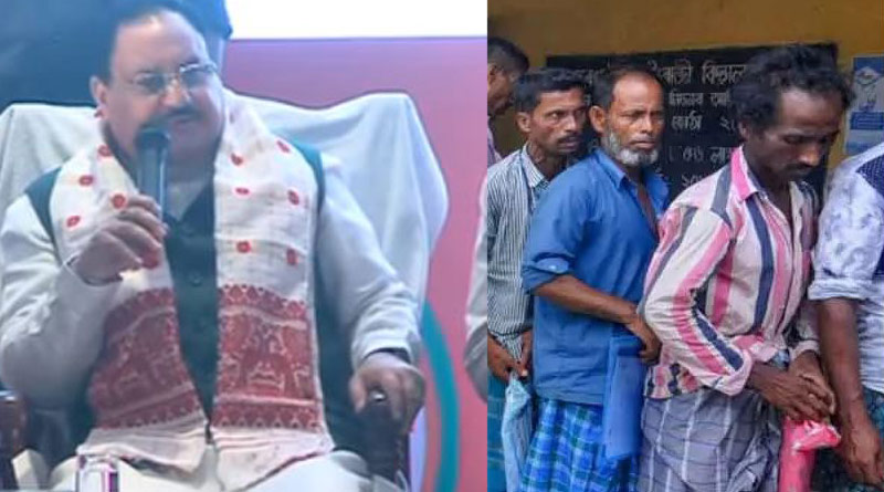 BJP manifesto for Assam: JP Nadda promises 'correct NRC', 2 lakh govt jobs in BJP manifesto for Assam | Sangbad Pratidin