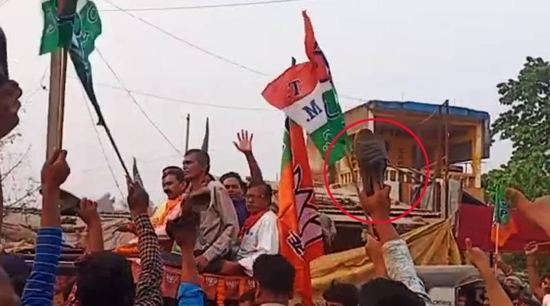 Malda: Former TMC leader Gour Chandra Mandal who joined BJP faces protest | Sangbad Pratidin
