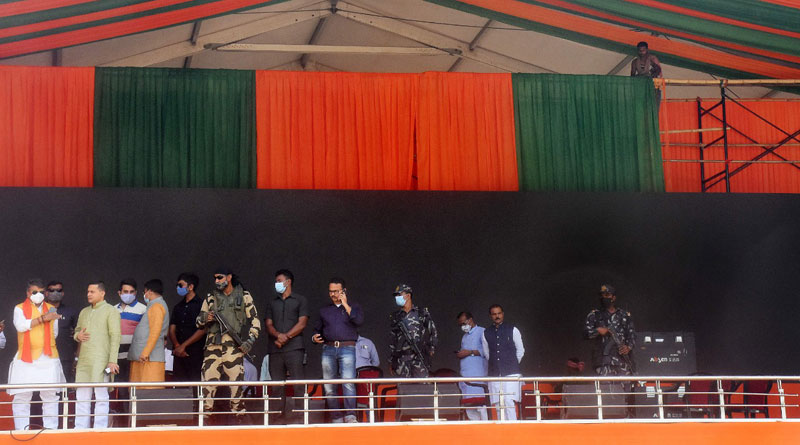 PM Modi's Brigade rally preparation underway | Sangbad Pratidin Photo Gallery: News Photos, Viral Pictures, Trending Photos - Sangbad Pratidin