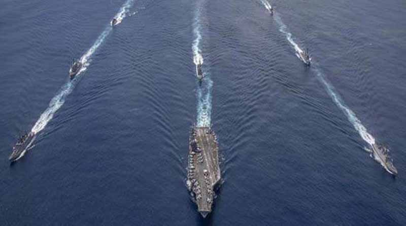 India and the US kicked off a two-day naval exercise in the eastern Indian Ocean region । Sangbad Pratidin