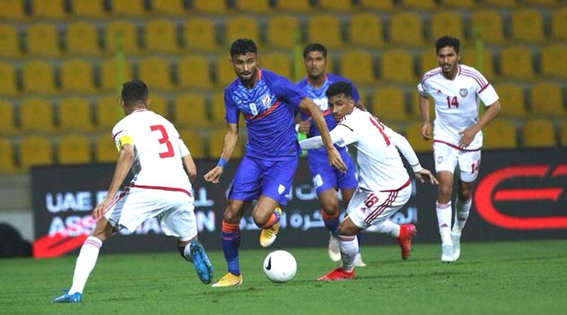 UAE vs IND: UAE thrashes Indian Football Team by 6-0 | Sangbad Pratidin
