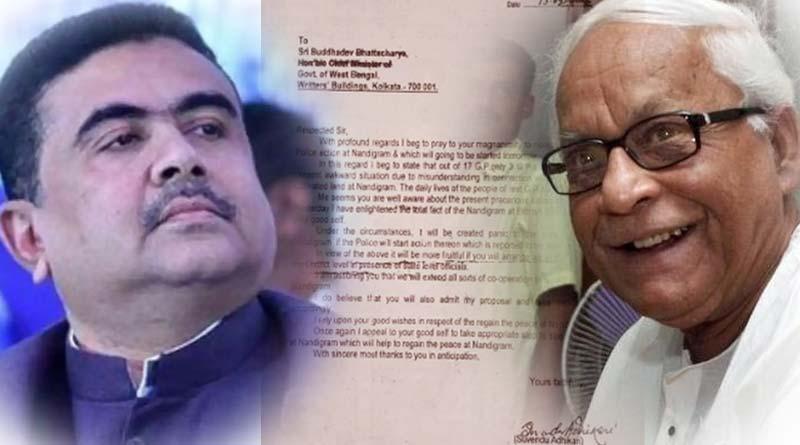 WB Assembly Poll: Suvendu Adhikari wrote letter to Former CM Buddhadeb Bhattachahrya to stop Nandigram police action | Sangbad Pratidin