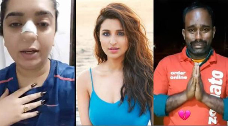 Parineeti Chopra appeals to Zomato to find out the 'truth', 'penalise the woman' in delivery man row | Sangbad Pratidin