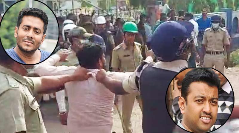Bengal Polls: Clash between TMC and BJP supporters at Raj Chakraborty and Subhranshu Roy's nomination file | Sangbad Pratidin