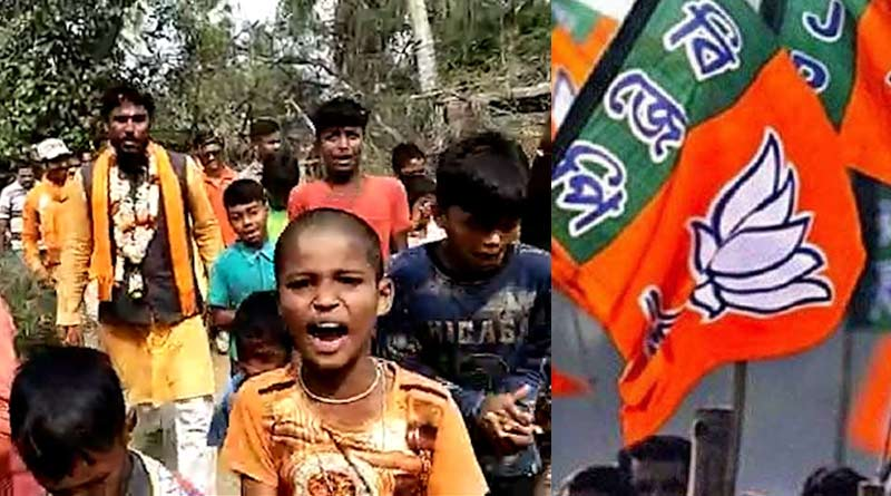 West Bengal Election: BJP draws flake as children spotted rallying for saffron brigade at Khejuri