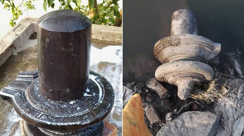 Shiva linga found at Bardhaman's Purbasthali area | Sangbad Pratidin