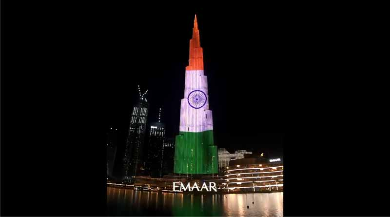 UAE expresses support amid COVID-19 crisis by lighting up Burj Khalifa with tricolour | Sangbad Pratidin