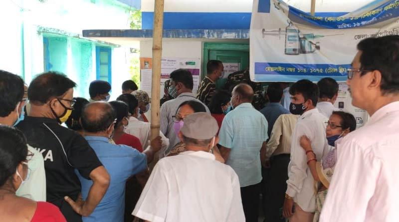 Corona Vaccine scarcity hits vaccination drive in Jalpaiguri , protest erupts