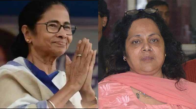 TMC leader Mamata Banerjee extends her hand to COVID positive Nandini Paul   Sangbad Pratidin