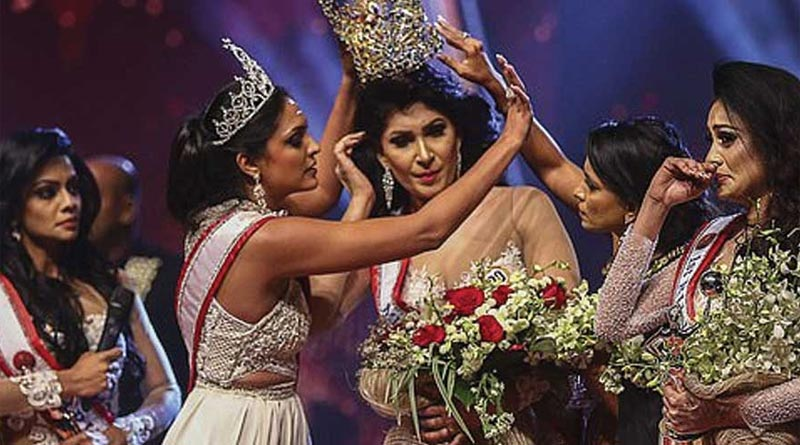 Mrs Sri Lanka winner suffers head injuries after Mrs World strips off her crown over divorce claim । Sangbad Pratidin