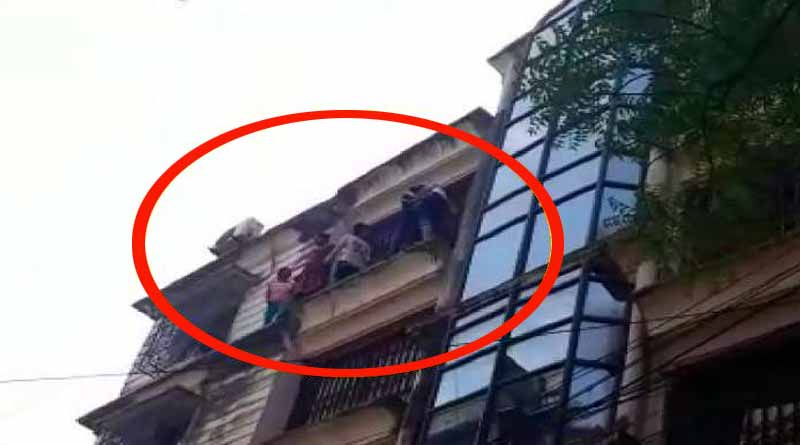 5 young girls try to jump for suicide from highrise of Park street | Sangbad Pratidin