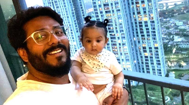 Raj Chakraborty shared a adorable video on Facebook with son Yuvaan | Sangbad Pratidin