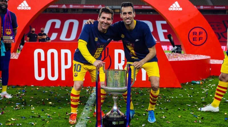 Lionel Messi scores twice as Barcelona wins Copa del Rey | Sangbad Pratidin