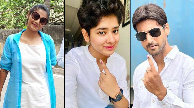 WB Polls 2021: Yash, Srabanti, Ditipriya, Hiran and other celeb gave their vote on 4th phase | Sangbad Pratidin