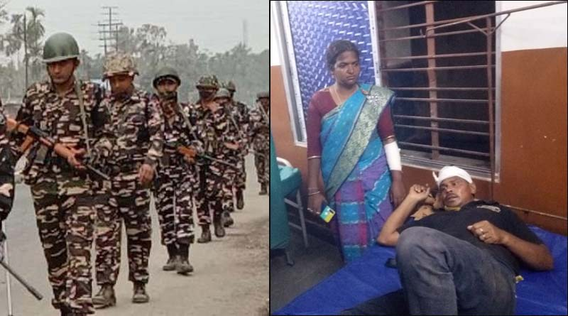 WB Assembly Polls: TMC-BJP clashes in West Bengal   Sangbad Pratidin