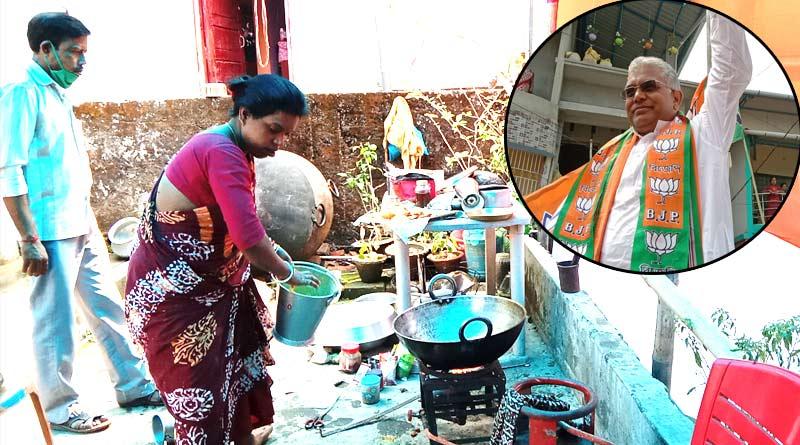 Malbazar woman heartsick as BJP leader Dilip Ghosh couldn't taste her cooked food | Sangbad Pratidin