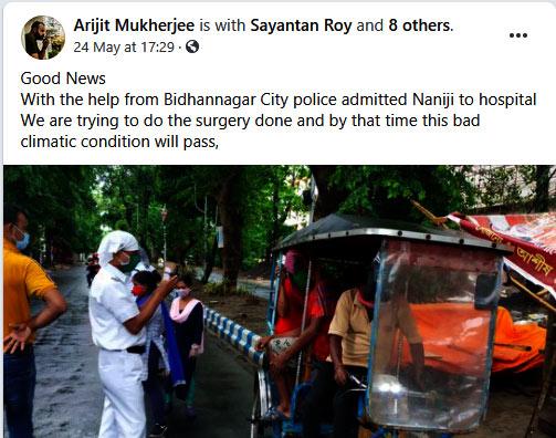 Arijit Mukherjee FB post