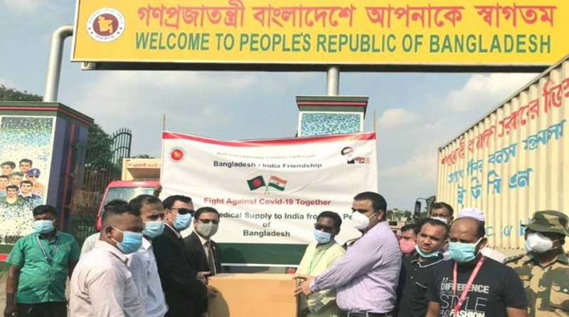 Bangladesh sends medicines, injections, sanitizers to India full of four trucks | Sangbad Pratidin