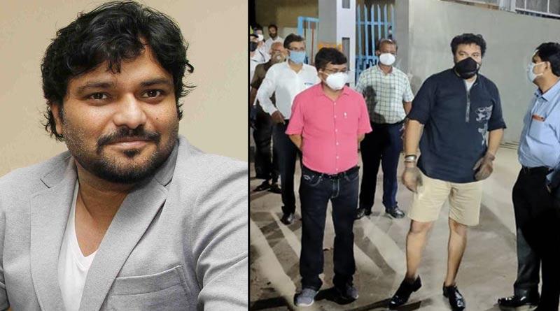 Babul Supriyo 'inaugurates railway subway' wearing half-pant, sparks row | Sangbad Pratidin