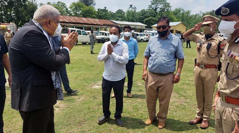 West Bengal governor Jagdeep Dhankar visits Assam 'refugee' camp | Sangbad Pratidin