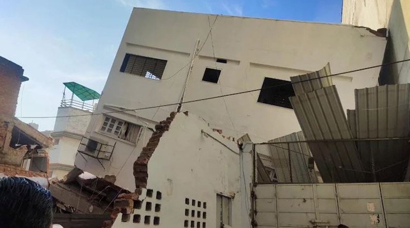 Narrow escape for residents as five-storey building collapses in Ahmedabad | Sangbad Pratidin