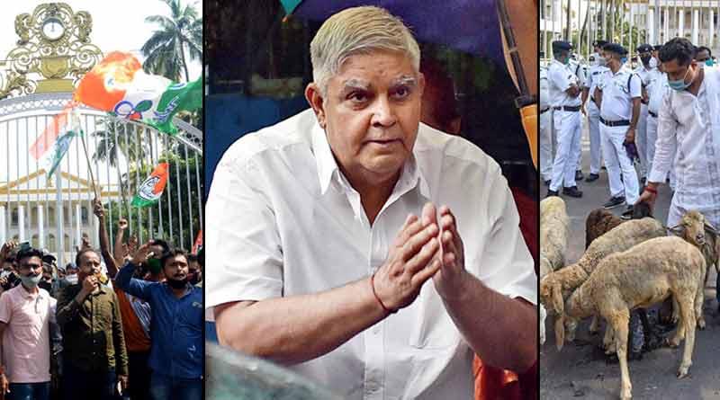 WB Guv Jagdeep Dhankhar seek a report over agitation in front of RajBhavan ।Sangbad Pratidin