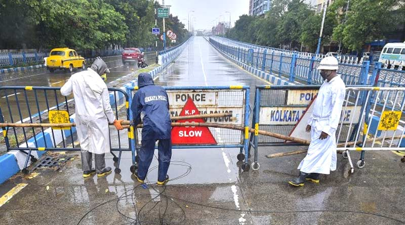 Kolkata Police is ready for Cyclone Yaas, no vehicles on flyover in cyclone time | Sangbad Pratidin