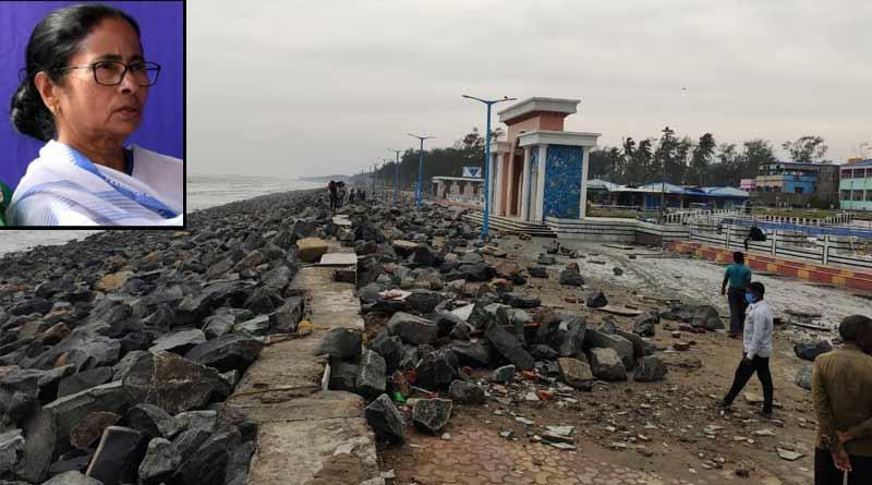 Cyclone Yaas ravaged marine Drive in Digha, Mamata Banerjee furious ।Sangbad Pratidin