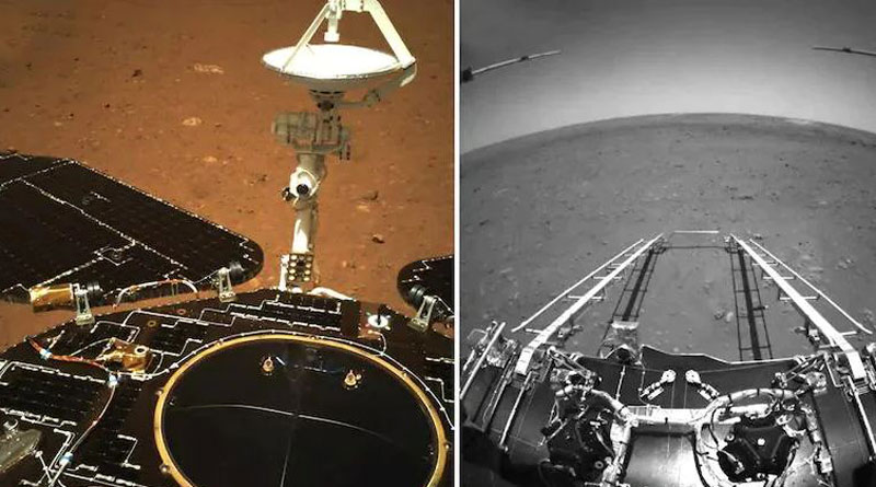 Martian rover Zhurong takes first drive on surface of Red Planet, China says | Sangbad Pratidin