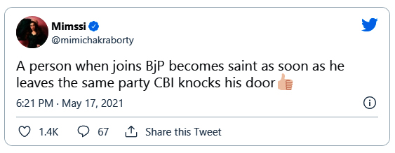 Mimi Chakraborty's Sharp Tweet