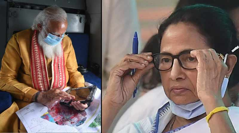 WB CM Mamata Banerjee handed over papers related to the cyclone impact to PM Narendra Modi । Sangbad Pratidin