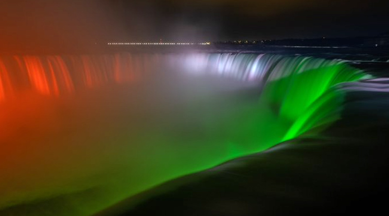 Niagara Falls lights up with Indian tricolour in display of solidarity and hope during Covid-19 crisis | Sangbad Pratidin
