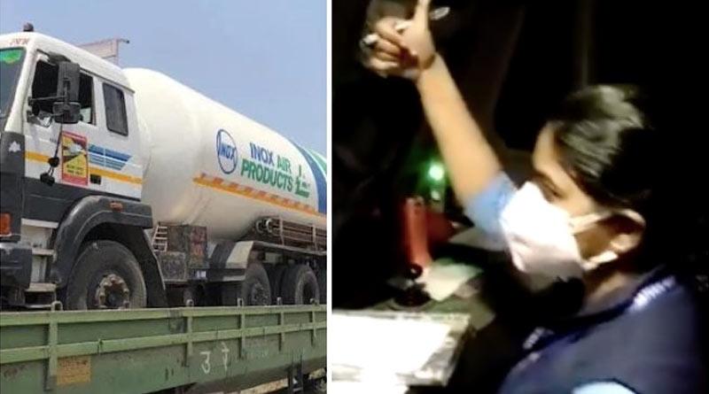 Oxygen Express piloted by 'All female crew' reaches Bengaluru from Tatanagar | Sangbad Pratidin