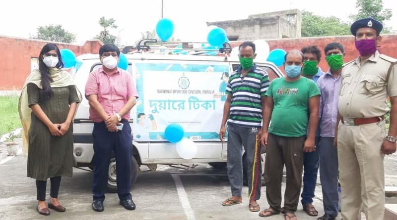 Purulia administration starts 'Duare Tika' to provide corona vaccines to the super spreaders   Sangbad Pratidin